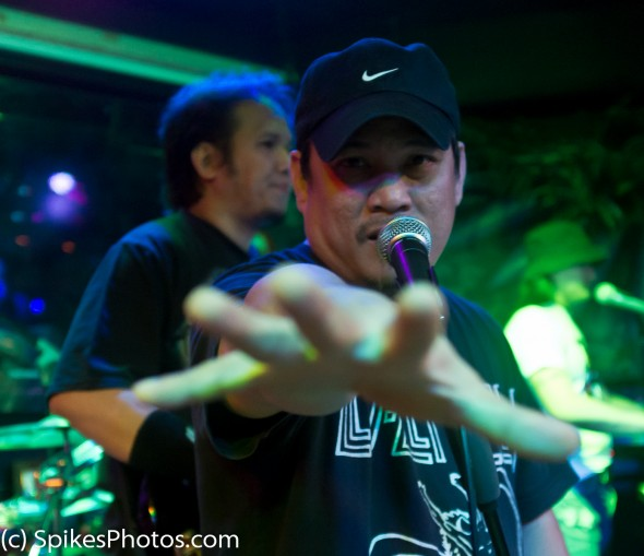 Spyke, lead singer for Icebox, at Amazonia in Hong Kong